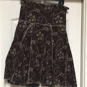 Max Studio dark brown embroidered skirt.  Size 4